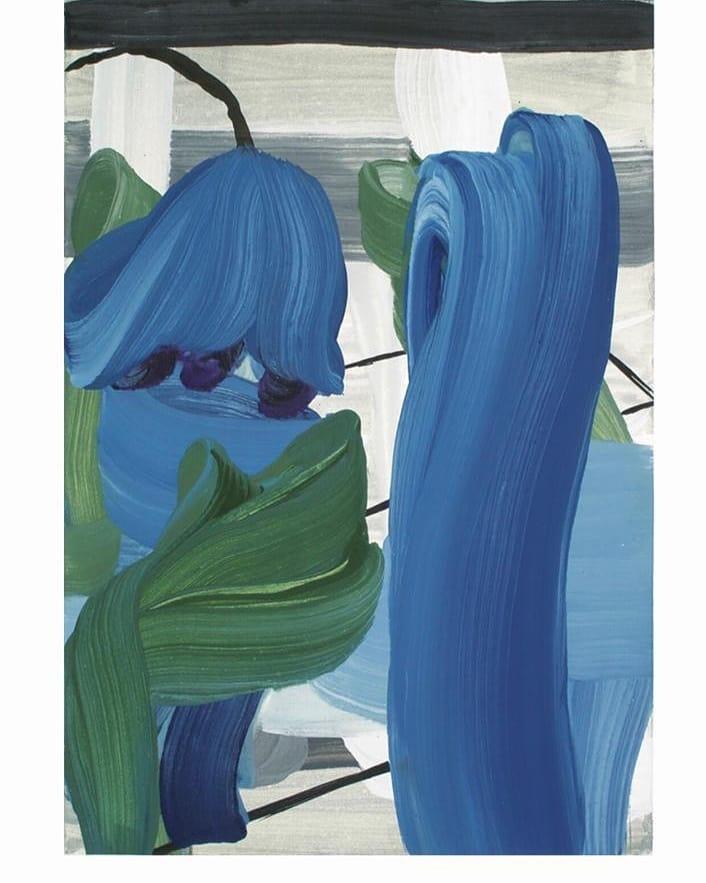 «شکوفهی آبی» نمایشگاه نقاشی مژه آصفجاه در مونیخ