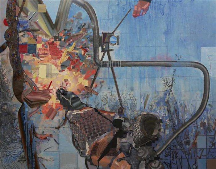 نمایشگاه نقاشی «دهانهی برخورد»